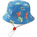 Unisex Bambino Cappello da Pescatore Squalo Blu Cappello da Sole Neonato Secchio Cappello Estivo Viaggio Spiaggia Esterno Cappello per 12-24 Mesi Ragazza Ragazzo
