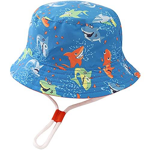 Unisexo Bebé Sombrero de Sol Tiburón Azul Gorro de...