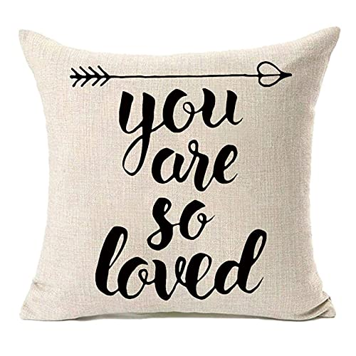 MFGNEH You are so Loved Pillow Covers,Valentine's Day...
