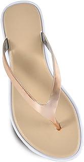 Ladies Womens Open Toe Thong Metallic Sandals Summer Flip Flop Flat Shoes