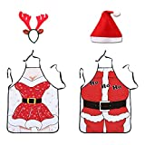 None/Brand Fun Couples Costumes Christmas Couple Apron, Funny Creative Christmas Gift & Valentine's Day Gift Waterproof Kitchen 3D Apron (Style C)