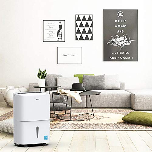 Shinco 5,000 Sq.Ft Energy Star Dehumidifier with Pump, Ideal for Large Living Room, Basements, Bedrooms, Bathrooms, Continuous Drain, Quietly Remove Moisture & Control Humidity - (70Pint with Pump)