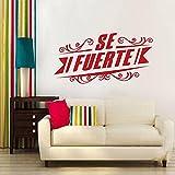 Pegatinas de pared de vinilo español pegatinas de pared desmontables arte moderno decoración del hogar pegatinas de decoración de pared murales A9 30x58cm