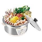 lyrlody- Olla eléctrica Hot Pot multifuncional, antiadherente, gran capacidad, 4 l, cocina cocina eléctrica para casa (4L)