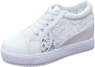 Femmes Minceur Chaussures Marche & Baskets Aptitude Wedges Plate-Forme Sneakers Compensées Chaussures de Sport Pas Cher