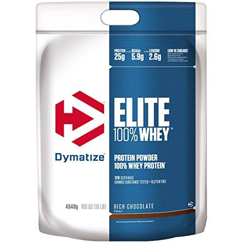 Dymatize Elite Whey Rich Chocolate 4,54Kg - High Protein Low Sugar Powder + Whey Protein and BCAAs