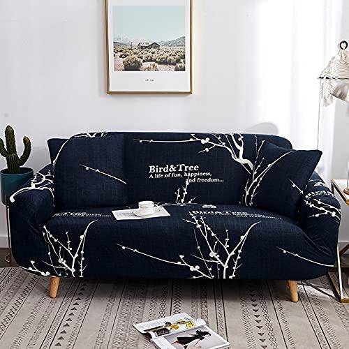 PPOS Funda de sofá elástica Funda Universal para sofá de Esquina Funda para Sala de Estar Funda elástica Funda de sofá en Forma de L A10 1 Asiento 90-140cm-1pc
