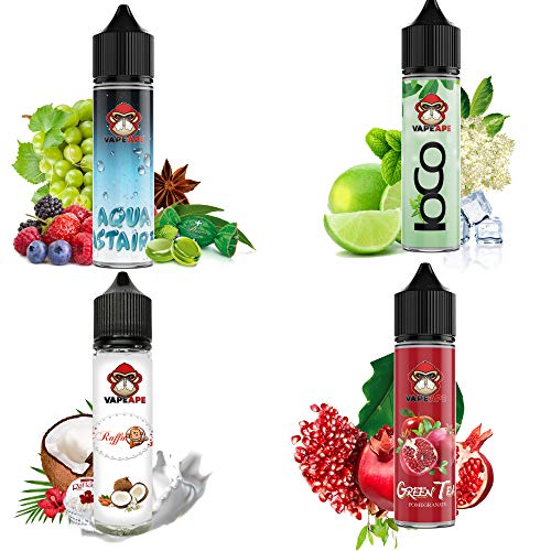 VapeApe® Liquid Starter Set 4 x 10 ml,...