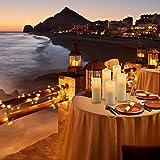 LED Kerzen,Flammenlose Kerzen 250 Stunden Dekorations-Kerzen-Säulen im 5er Set.Realistisch flackernde LED-Flammen 10-Tasten Fernbedienung mit 24 Stunden Timer-Funktion (5 * 1, Ivory) - 6