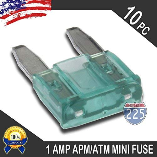 10 Pack 1AMP APM/ATM 32V Mini Blade Style Fuses 1A Short Circuit Protection Car Fuse
