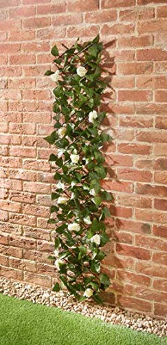 ONLINE DEALS OUTLET Stunning Decorative Feature Garden Outdoor Expanding Rose Leaf Trellis Perfect for Covering Walls and Fences - 180 x 30cm