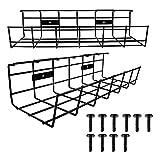 Canalina per la scrivania, per la gestione dei cavi, per l'organizzazione dei cavi, in metallo, per ufficio e casa