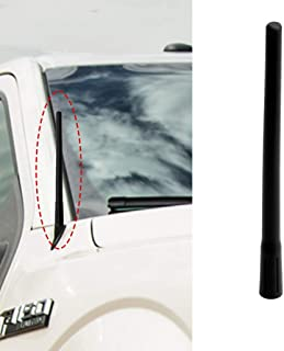8 inch Bottom Vertical Stripe Direct Replacement Antenna Mast Compatible with 2009-2019 Dodge RAM 1500 2500 3500 Ford F150 Trucks