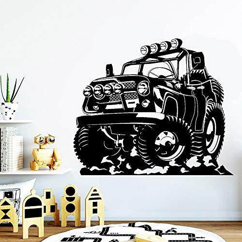 Etiqueta engomada de la pared del vinilo de Wrangler del coche del camión | Regalos de la fiesta de cumpleaños del cuarto de niños del dormitorio de los niños