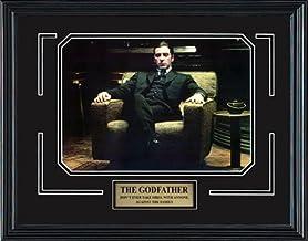 Frez Artwork LLC The Godfather Part II Movie Memorabilia Al Pacino as Don Michael Corleone Framed Movie Photo with Plate C...