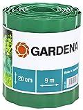 Gardena 540-20 Recinzione per Prato, Altezza 20 cm, Delimitazione Ottima per il Prato, Idonea anche per Aiuole, Plastica di Alta Qualità, Verde, 9 m