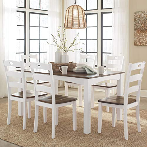 Signature Design by Ashley Dining Table Set .1 Pack Woodanville Cream/Brown (7 Piece)