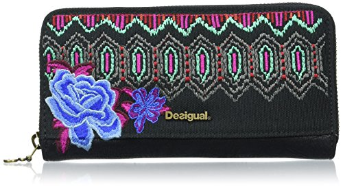 Desigual ZIP AROUND ETERNAL - Portafogli Donna, Verde (4009), 19x9.5x2 cm (B x H x T)