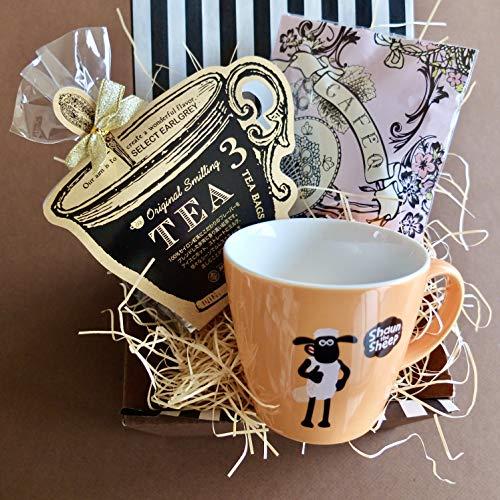 ティータイムギフトティータイムギフト/ショーンマグ&紅茶&ストロベリーピンクチョコセット (オレンジマグ)