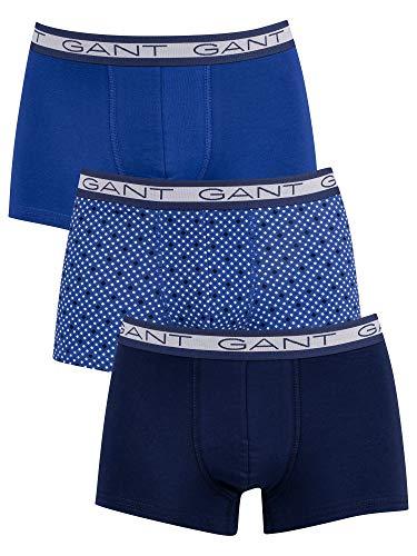 GANT Herren Diamond DOT Basic Trunk 3-Pack Boxershorts, College Blue, XXL