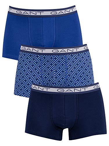 GANT Herren Diamond DOT Basic Trunk 3-Pack Boxershorts, College Blue, XXXL
