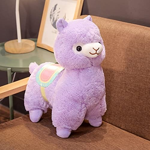 RAOMALV Caliente 35/50 CM Lindo sillín de Alpaca Juguetes de Peluche Suave Felpa Alpacasso Alpaca muñecos de Peluche de Juguete niños Regalo de cumpleaños 35cm Púrpura