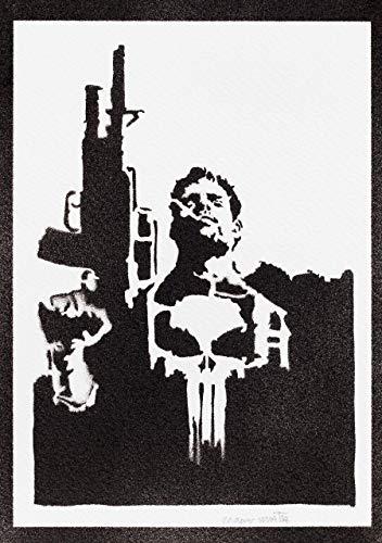 The Punisher Poster Der Bestrafer Plakat Handmade Graffiti Street Art - Artwork