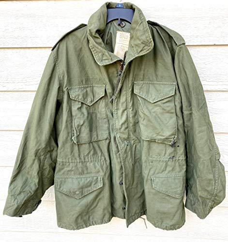 Vintage 1976 Genuine USGI Coat Cold Weather Field OG-107 M-65 Jacket - Medium Regular