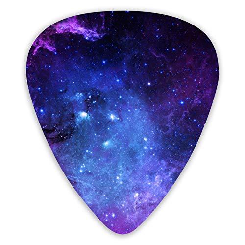 Púas de guitarra Rosa Púrpura Azul Galaxy Ukelele Púas 12 piezas, incluyendo 0,46 Mm, 0,71 Mm, 0,96 Mm Guitarra acústica