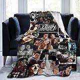 commix.x Te-En Collage Blanket Soft Popular W-O-Lf Character Throw Blanket Fleece Fuzzy Lightweight Blanket,50'' x40