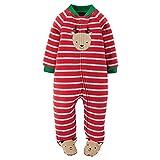 Carter's Just One You Baby Boys' Long-Sleeve Footed Blanket Sleeper (Newborn, Reindeer)