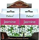 Incienso Tulasi - Jasmine - 4 Cajas de 15 Conos -
