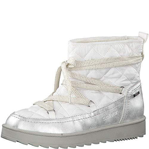 s.Oliver Damen Stiefel 26405-23, Frauen Winterstiefel, Tex, leger Winter-Boots schnürstiefel gefüttert warm wasserfest tex,Ice Comb,39 EU / 6 UK