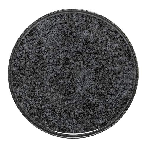 Bloomingville Noir plaat zwart/grijs Ø18cm