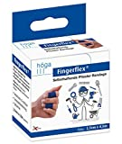 Fingerflex Blau, 2,5 cm x 4,5 m gedehnt, selbsthaftende Pflaster Bandage / Fingerverband, 2er-Pack.