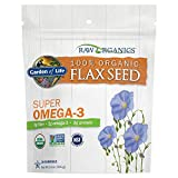 Garden of Life 100% Organic Ground Flax Seed, Cold Milled Premium Golden Flaxseed Meal for Women and Men, 2g Omega 3, Lignans, 3g Fiber, 3g Protein, One Ingredient, Preservative Free, 28 Servings