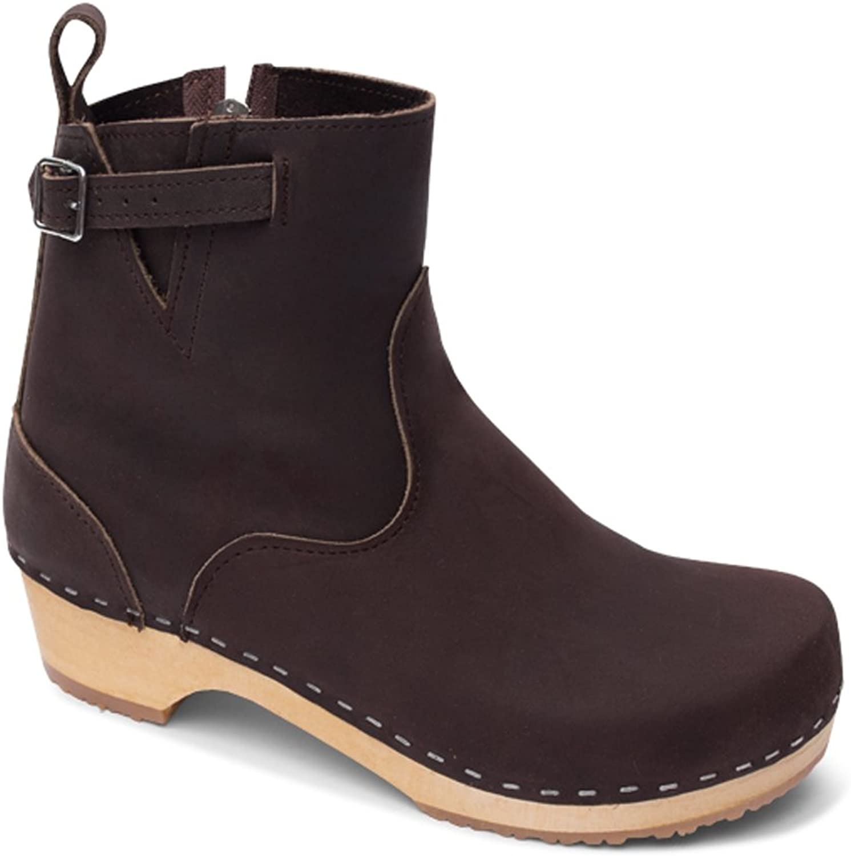 Sandgrens Swedish Low Heel Wooden Clog Boots for Women   New York