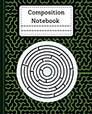 Composition Notebook: Gorgeous green zigzag maze composition notebook college ruled 7.5 x 9.25 120 Pages Nice Beautiful Soft for School Workbook Homework graduation for Boys or Girls or man or woman