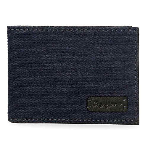 Pepe Jeans Royce Cartera horizontal Azul 11,5x8x1 cms Lona
