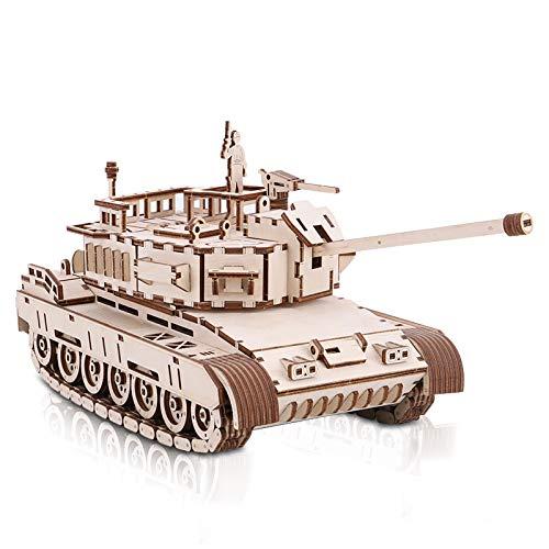 None/Brand 3D Mechanische Holzmodell Panzer zum Bauen, 3D Panzer Holzpuzzle zu Montieren, Holzbausätze, Kreatives DIY Geschenk für Erwachsene und Sammler