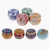 YASEking Conjunto de Regalo de Velas perfumadas, Cera de Soja Natural Velas portátiles Velas de hojalatas Regalo para Mujeres Aromaterapia - 8 Paquete