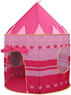 SKEIDO Children's tent, game house olding Tent Children Boy Cubby Play House Kids Gifts Outdoor Toy Tents Castle -Pink