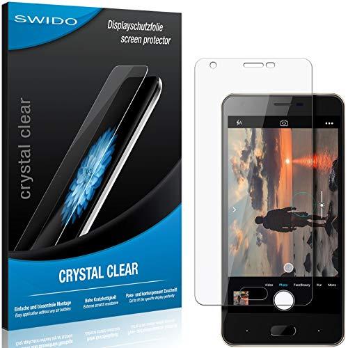 SWIDO Bildschirmschutz für Doogee X20L [4 Stück] Kristall-Klar, Hoher Festigkeitgrad, Schutz vor Öl, Staub & Kratzer/Folie, Schutzfolie, Bildschirmschutzfolie, Panzerglas Folie