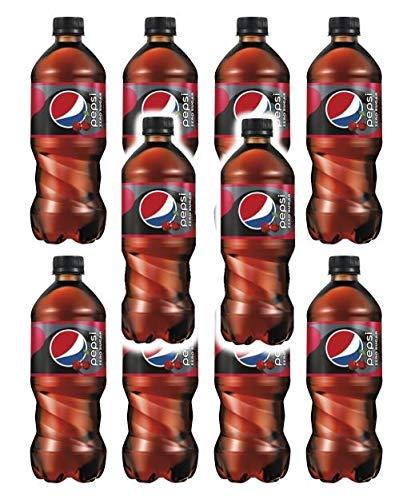 Pepsi Zero Sugar Wild Cherry 20oz Bottles Pack of 10 total of 200 FL OZ