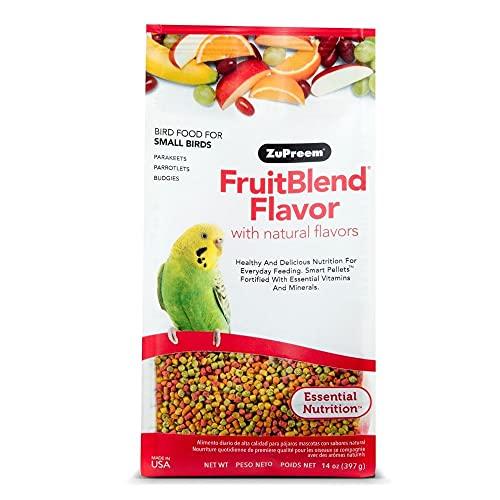 ZuPreem - Alimento para Aves Pequeñas FruitBlend   Alimento Periquitos y Loros - 900 g