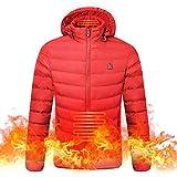 Roeam Chaqueta con Calefacción, Chaqueta Calefactable para Mujer y Hombre con Carga USB,Invierno Abrigo Termico para Camping Esquí Pesca
