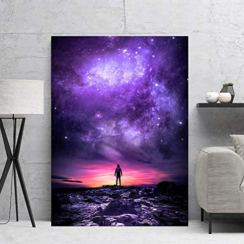 N / A Stampe Decorative su Tela Astronauta Spaziale Home   Canvas Pittura Pittura murale Poster Canvas HD -60x80cm