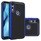 Moto e (2020) Case, Motorola E (2020) Case with HD Screen Protector,Giner Dual Layer Heavy-Duty Military-Grade Armor Defender Protective Phone Case Cover for Motorola Moto e (2020) (Blue Armor)