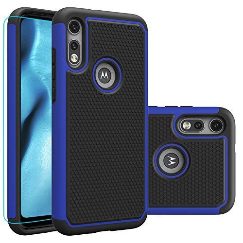 Moto e (2020) Case, Motorola E (2020) Case with HD Screen Protector,Giner Dual Layer Heavy-Duty Military-Grade Armor Defender Protective Phone Case...
