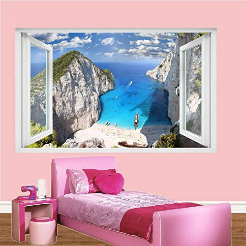 Wall Sticker Beach Wall Sticker 3D Art Mural Office Poster